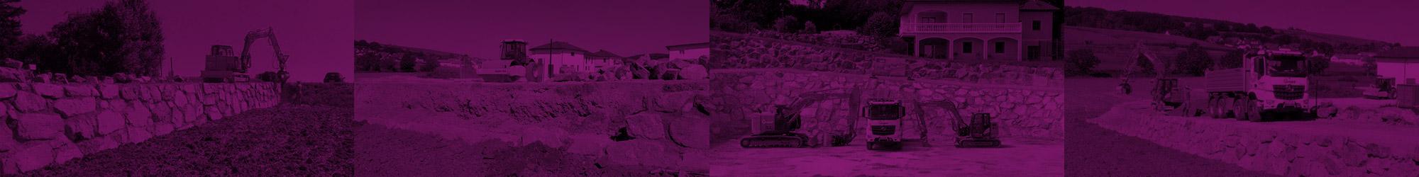 Gnant Steinmauern und Gartengestaltung